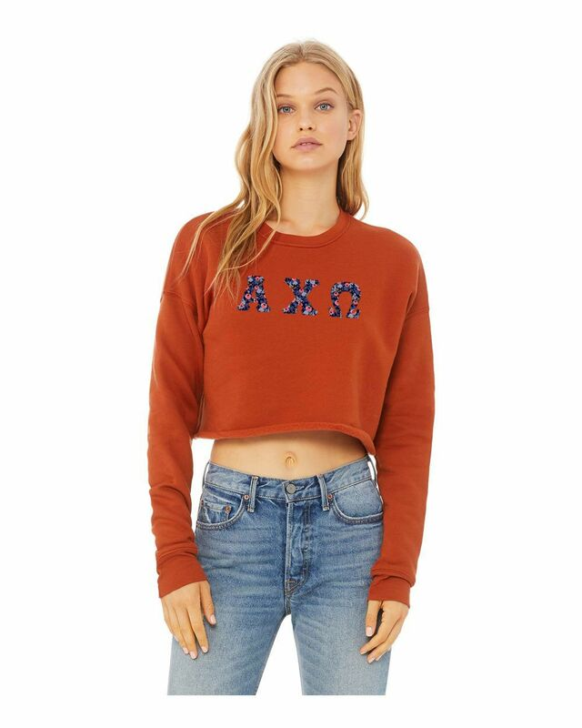 Alpha Chi Omega Bella + Canvas - Women's Cropped Crew Fleece