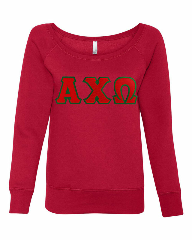 DISCOUNT-Alpha Chi Omega Fleece Wideneck Sweatshirt