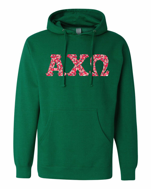 Alpha Chi Omega Lettered Independent Trading Co. Hooded Pullover Sweatshirt