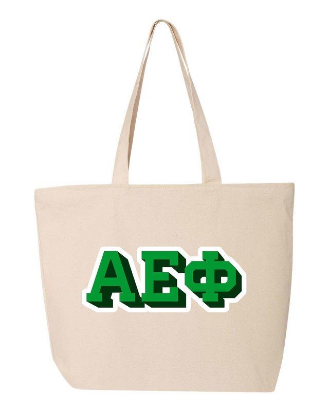 Alpha Epsilon Phi 3D Letter Tote Bag