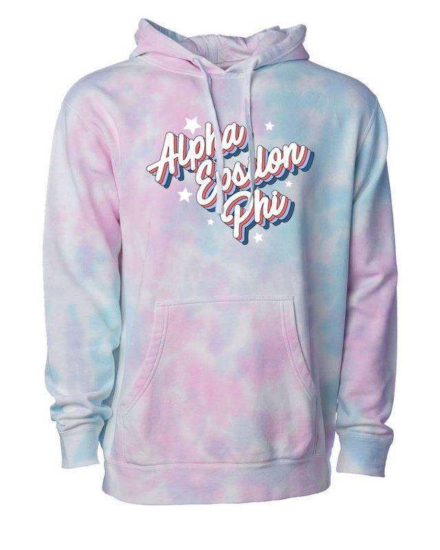 Alpha Epsilon Phi Cotton Candy Tie-Dyed Hoodie