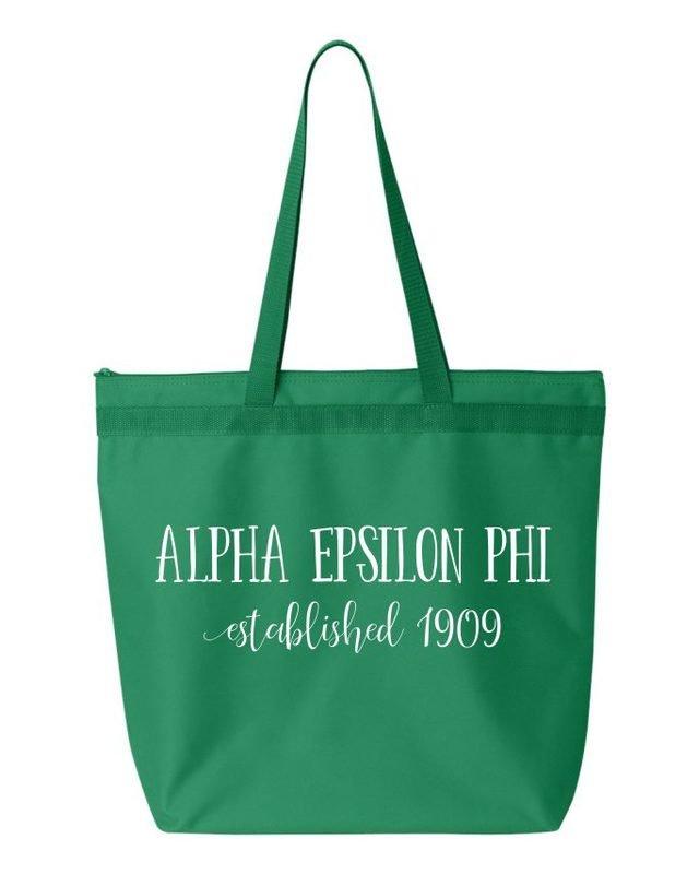 Alpha Epsilon Phi Established Tote bag