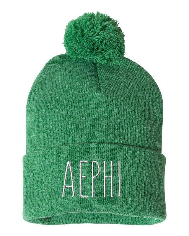 Alpha Epsilon Phi Mod Pom Pom Beanie