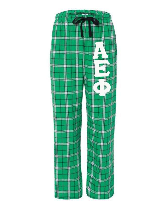 Alpha Epsilon Phi Pajamas -  Flannel Plaid Pant