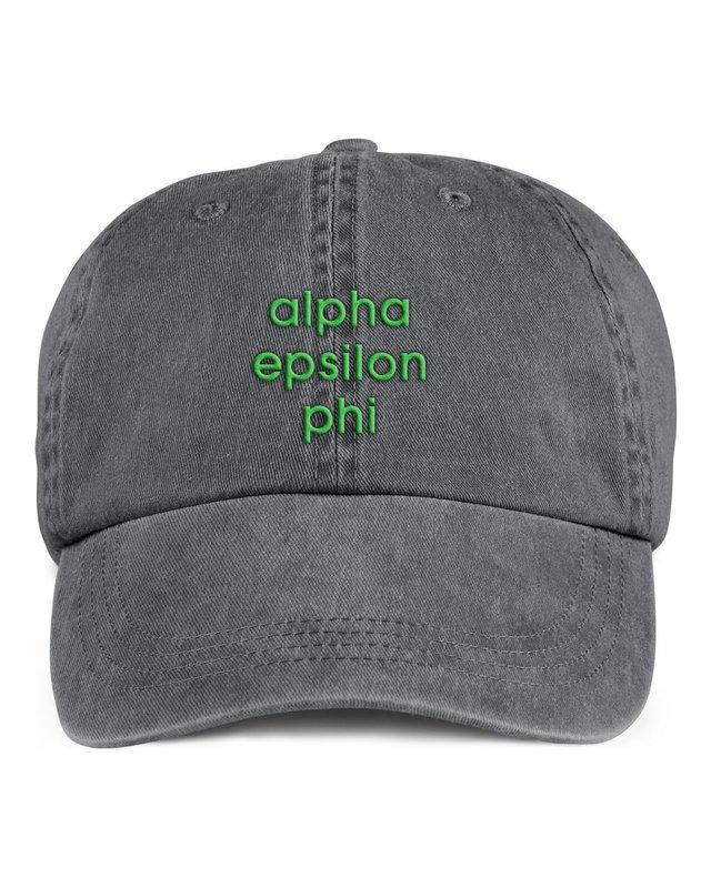 Alpha Epsilon Phi Stonewashed Cotton Hats