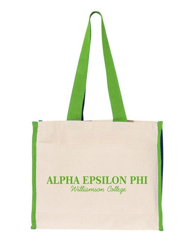 Alpha Epsilon Phi Tote with Contrast-Color Handles