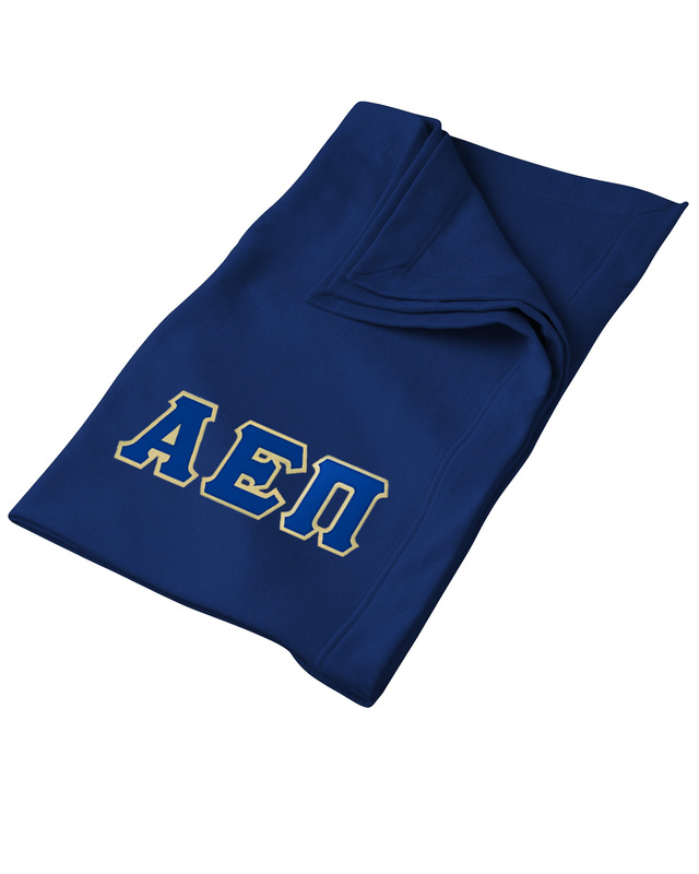 DISCOUNT-Alpha Epsilon Pi Twill Sweatshirt Blanket
