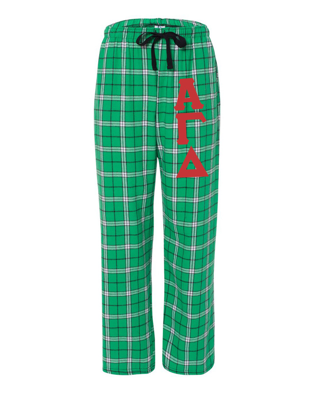 Alpha Gamma Delta Pajamas -  Flannel Plaid Pant