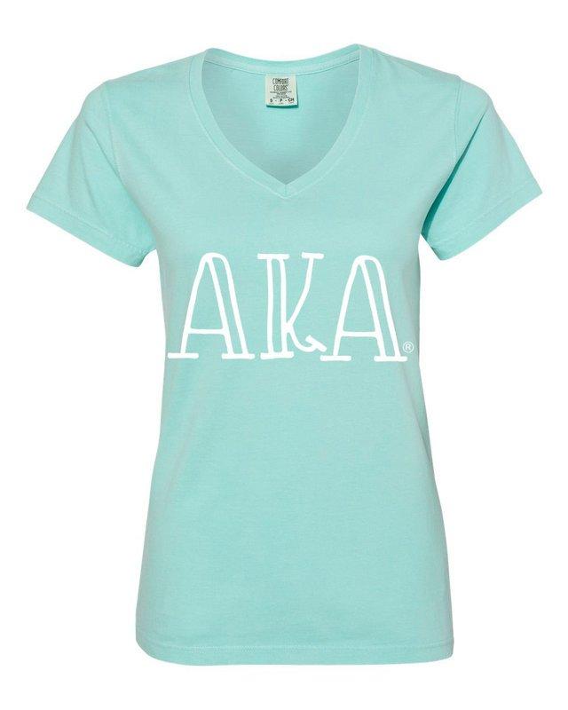 Alpha Kappa Alpha Comfort Colors V-Neck T-Shirt