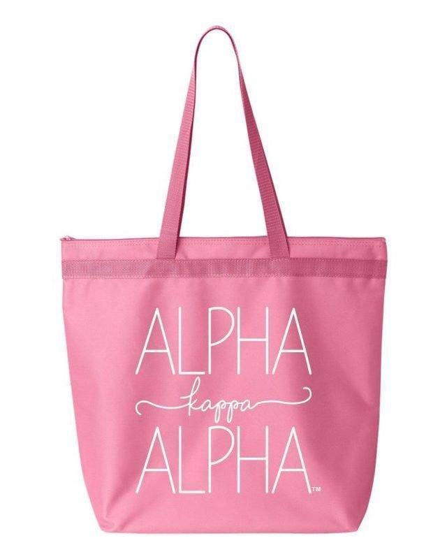 Alpha Kappa Alpha New Handwriting Tote Bag
