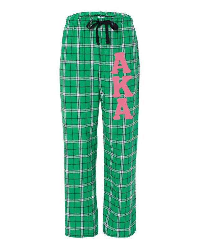 Alpha Kappa Alpha Pajamas -  Flannel Plaid Pant