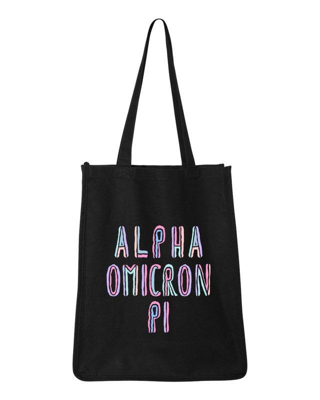 Alpha Omicron Pi Jumbo All In Tote Bag