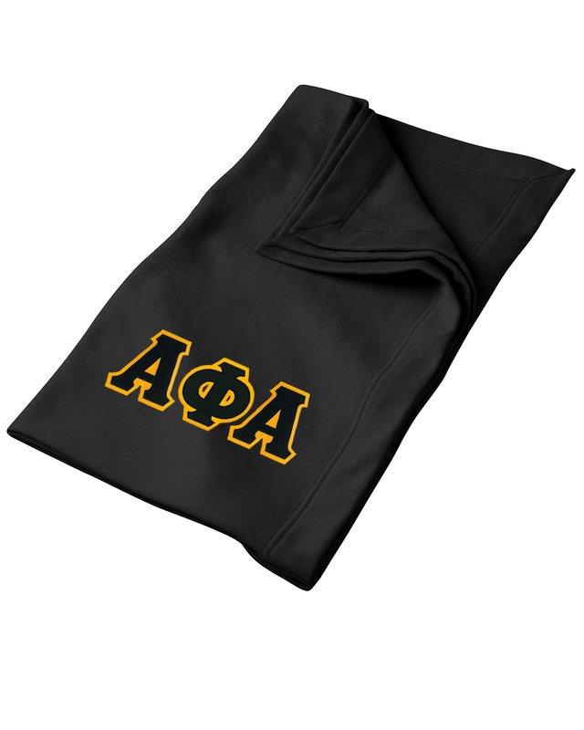DISCOUNT-Alpha Phi Alpha Twill Sweatshirt Blanket