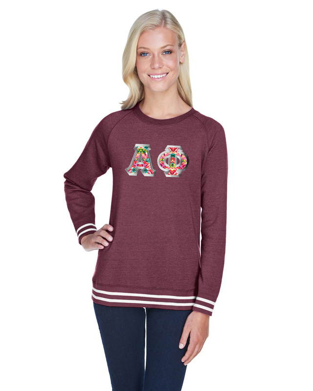 6db0f0602eb Alpha Phi J. America Relay Crewneck Sweatshirt SALE  35.00. - Greek Gear®