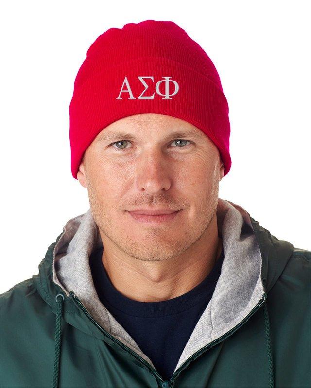 Alpha Sigma Phi Greek Letter Knit Cap