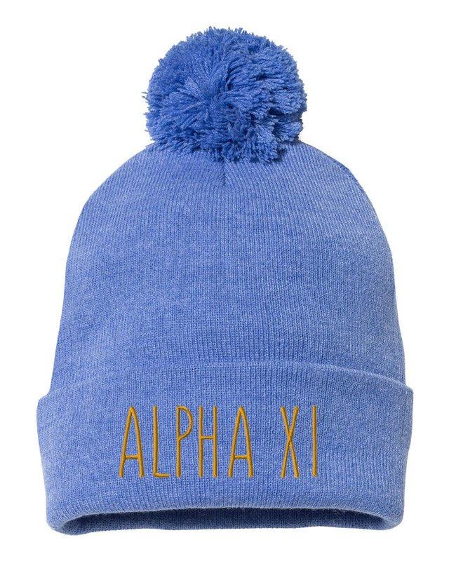 Alpha Xi Delta Mod Pom Pom Beanie
