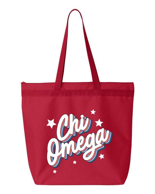 Chi Omega Flashback Tote bag