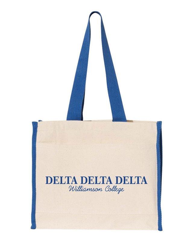 Delta Delta Delta Tote with Contrast-Color Handles