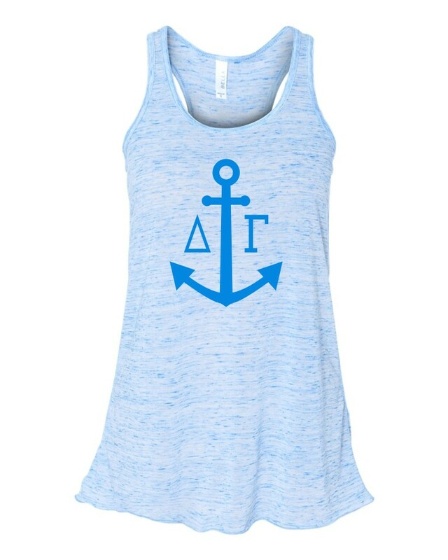 Delta Gamma Simple Anchor Flowy Racerback Tank