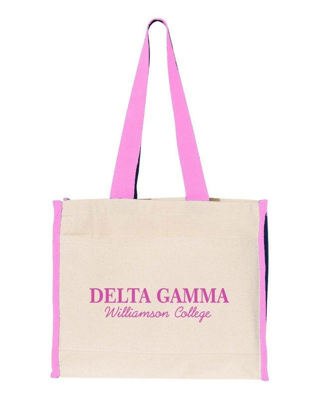 Delta Gamma Tote with Contrast-Color Handles