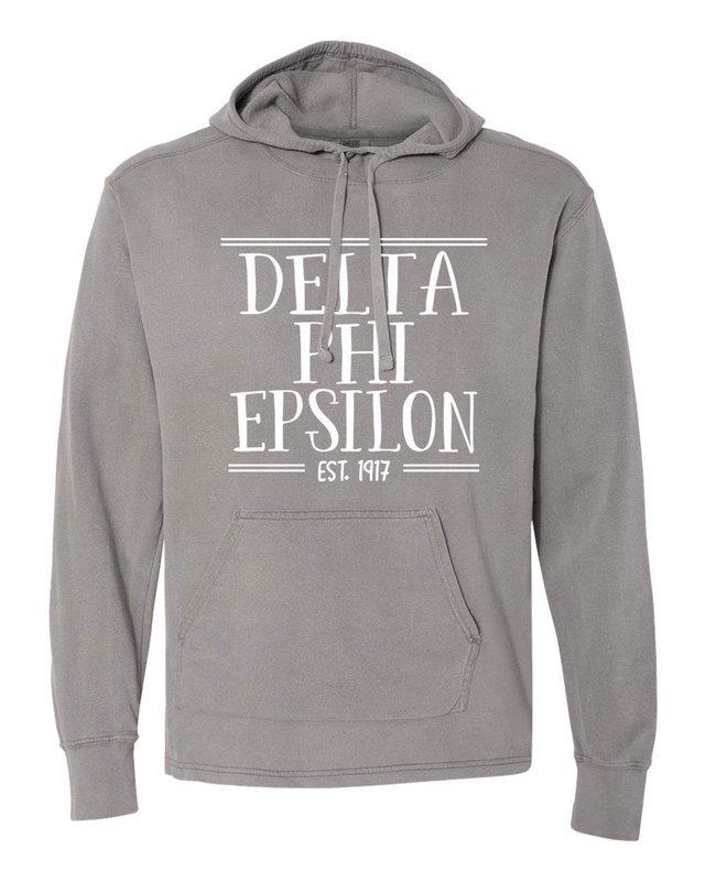 delta phi epsilon comfort colors terry scuba neck. Black Bedroom Furniture Sets. Home Design Ideas
