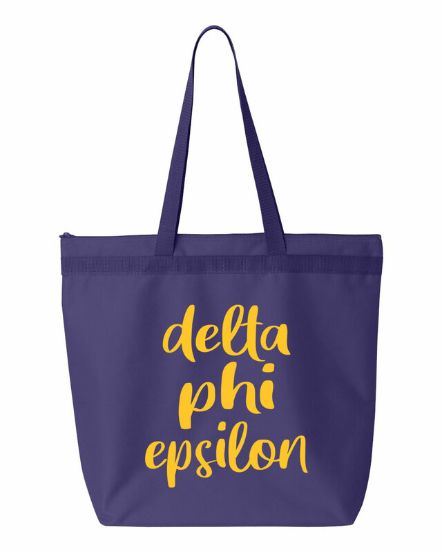 Delta Phi Epsilon Script Tote Bag