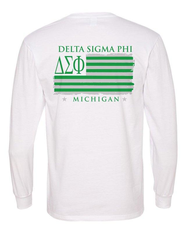 Delta Sigma Phi Stripes Long Sleeve T-shirt