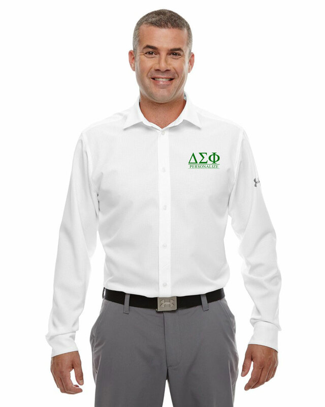 Delta Sigma Phi Under Armour®  Men's Ultimate Fraternity Long Sleeve Buttondown