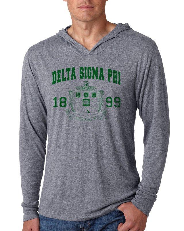 Delta Sigma Phi Unisex Triblend Long-Sleeve Hoodie