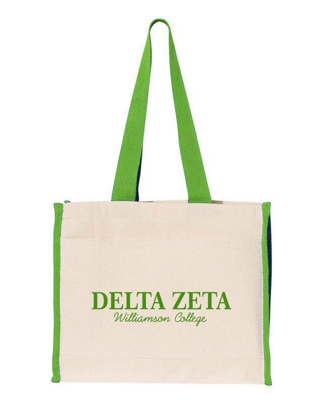 Delta Zeta Tote with Contrast-Color Handles