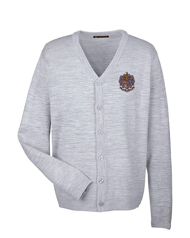 Greek Letterman Cardigan Sweater