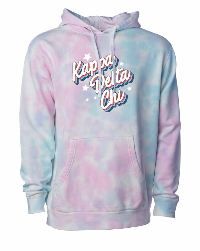 Kappa Delta Chi Cotton Candy Tie-Dyed Hoodie
