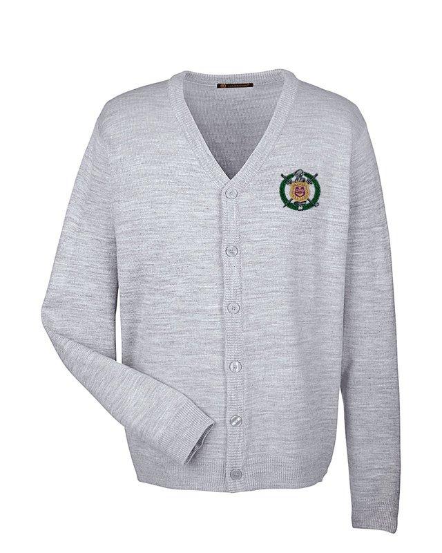 Omega Psi Phi Greek Letterman Cardigan Sweater