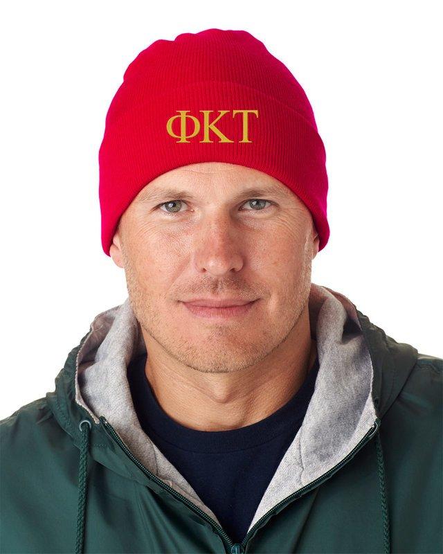 Phi Kappa Tau Greek Letter Knit Cap
