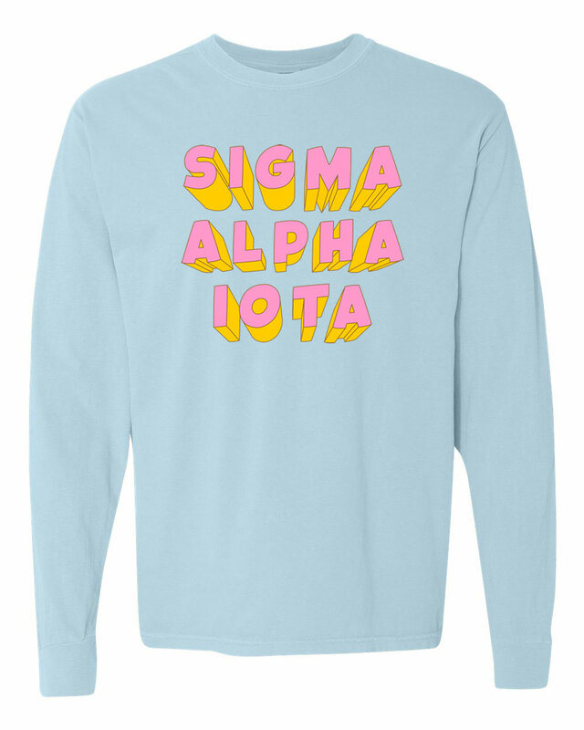 Sigma Alpha Iota 3Delightful Long Sleeve T-Shirt - Comfort Colors