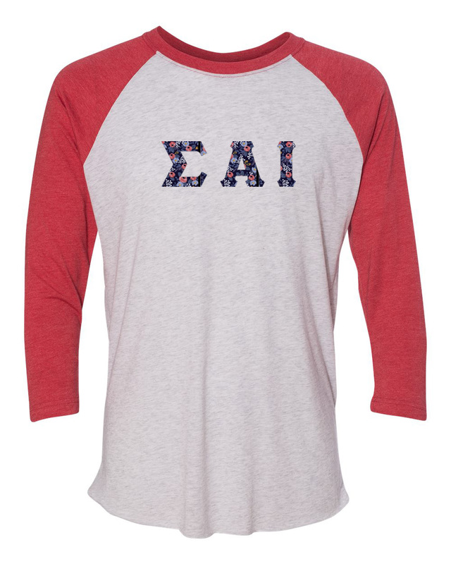 Sigma Alpha Iota Unisex Tri-Blend Three-Quarter Sleeve Baseball Raglan Tee