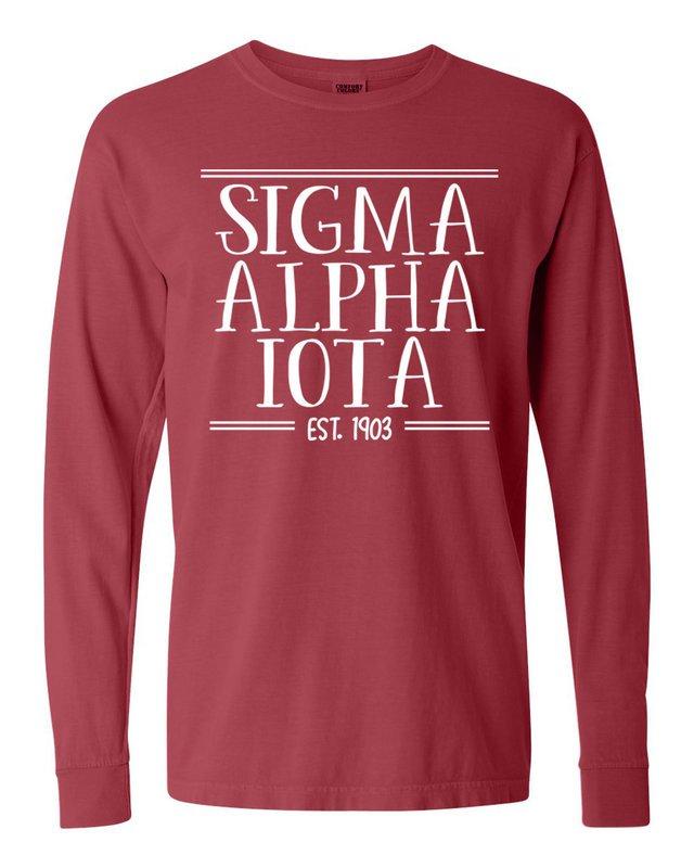 Sigma Alpha Iota Comfort Colors Custom Long Sleeve T-Shirt