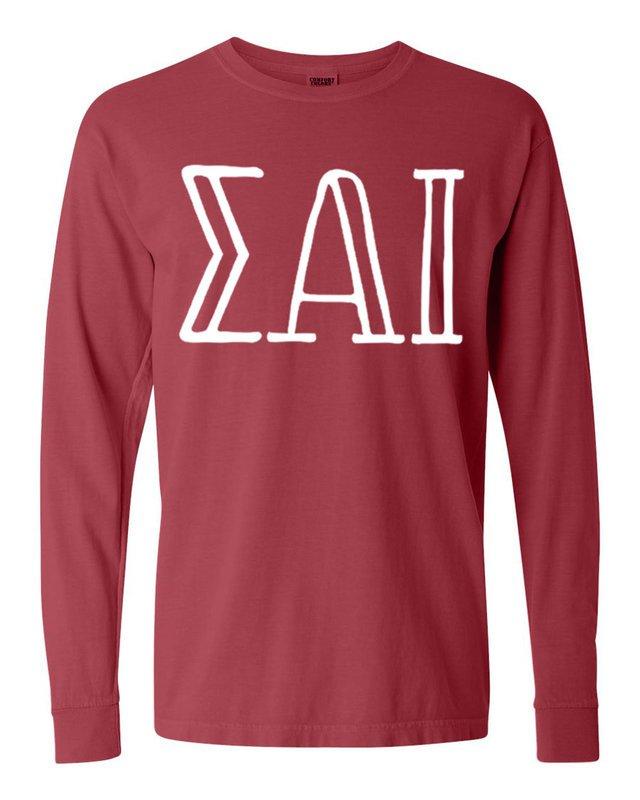 Sigma Alpha Iota Comfort Colors Greek Long Sleeve T-Shirt