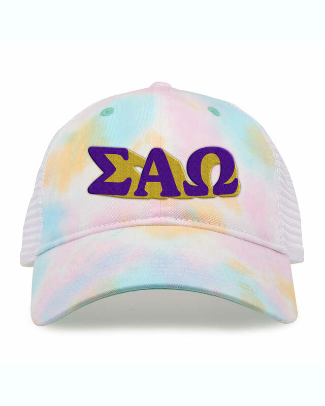 Sigma Alpha Omega Sorority Sorbet Tie Dyed Twill Hat