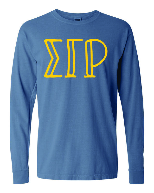 Sigma Gamma Rho Comfort Colors Greek Long Sleeve T-Shirt