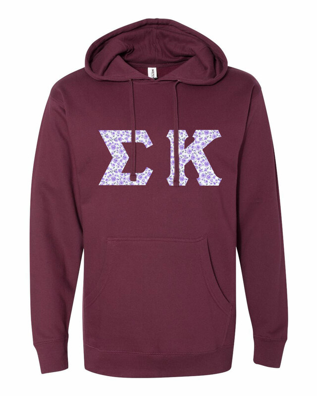 Sigma Kappa Lettered Independent Trading Co. Hooded Pullover Sweatshirt