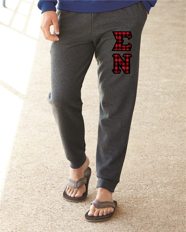 """Sigma Nu Lettered Joggers(3"""" Letters)"""