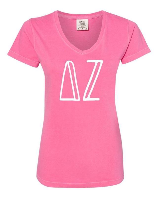 Sorority Comfort Colors V-Neck T-Shirt