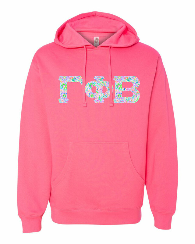 Sorority Lettered Independent Trading Co. Hooded Pullover Sweatshirt