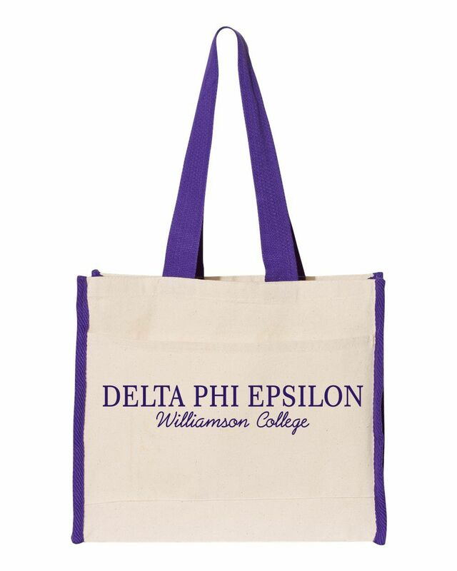 Sorority Tote with Contrast-Color Handles
