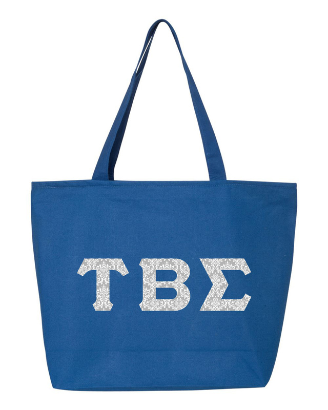 Tau Beta Sigma Greek Letter Zipper Tote