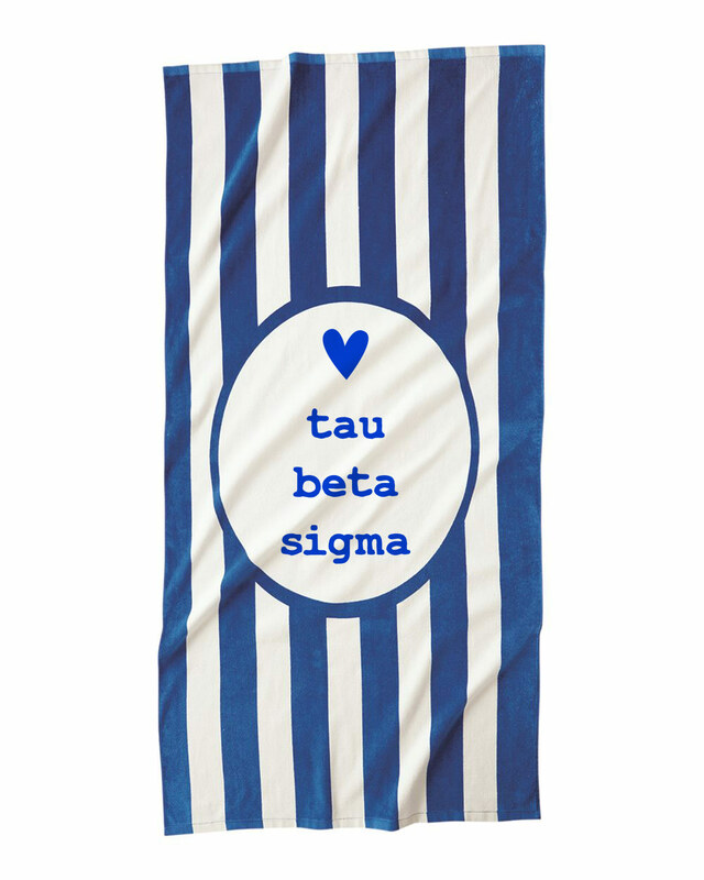 Tau Beta Sigma Striped Beach Towel