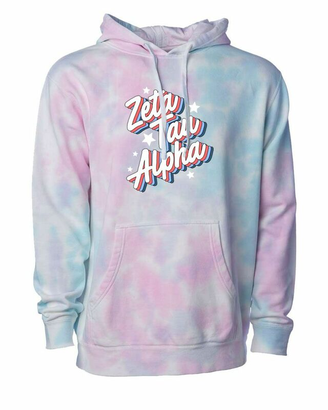 Zeta Tau Alpha Cotton Candy Tie-Dyed Hoodie
