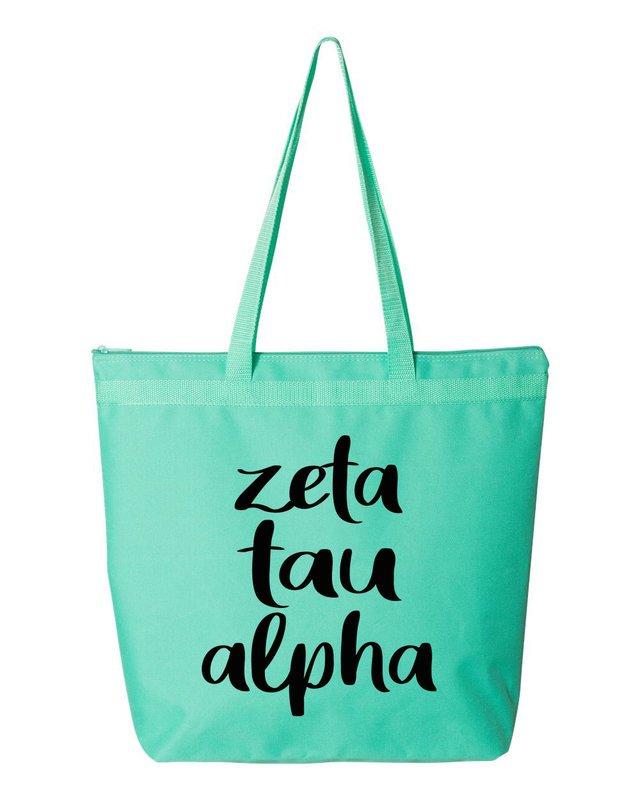 Zeta Tau Alpha Script Tote Bag