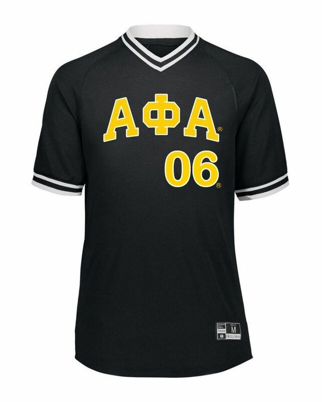 Alpha Phi Alpha Retro V-Neck Baseball Jersey